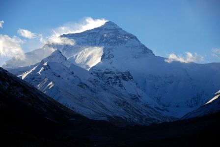 38 Mount Everest North Face Very Early Morning From Rongbuk